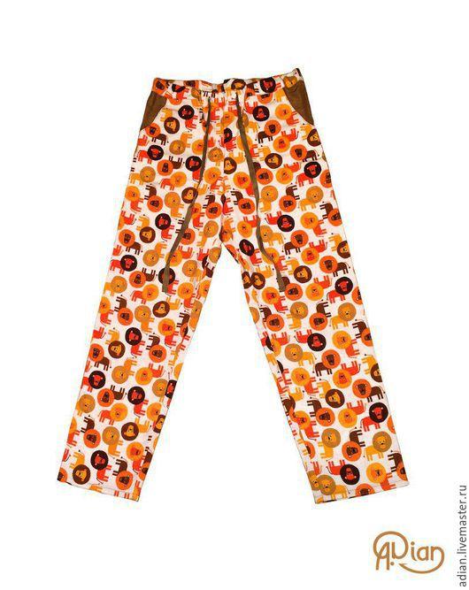 Для мужчин, ручной работы. Ярмарка Мастеров - ручная работа. Купить Мужские домашние штаны из фланели S и М. Handmade.