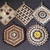 Для дома и интерьера ручной работы. Ярмарка Мастеров - ручная работа Прихватки для кухни. Handmade.