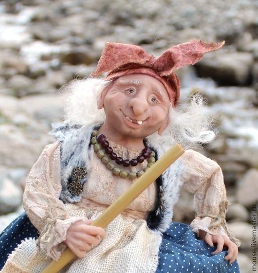 Сказочные персонажи ручной работы. Ярмарка Мастеров - ручная работа. Купить Добрая Баба-Яга. Handmade. Баба-яга, текстиль
