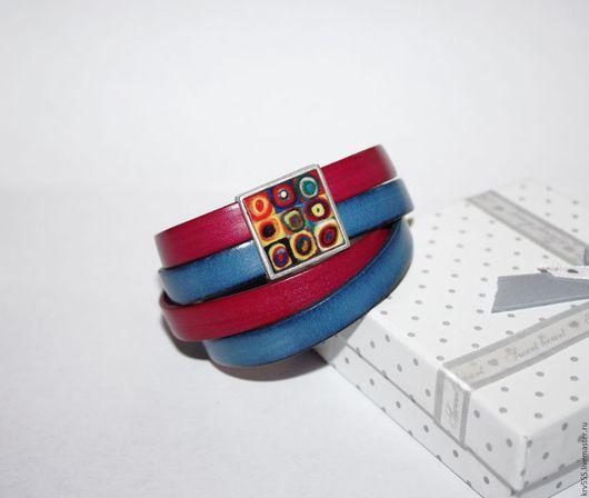 """Браслеты ручной работы. Ярмарка Мастеров - ручная работа. Купить Кожаный браслет """"Галактика""""  , намотка,широкий. Handmade. Браслет"""