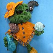 Материалы для творчества ручной работы. Ярмарка Мастеров - ручная работа МК по вязанию игрушки Лягушка. Handmade.
