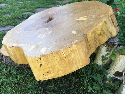 Мебель ручной работы. Ярмарка Мастеров - ручная работа. Купить Спил берёзы массивный 67 см. Handmade. Береза, столешница
