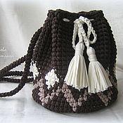 Сумки и аксессуары handmade. Livemaster - original item Knitted backpack-a bag of knitting yarn. Handmade.