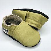Работы для детей, handmade. Livemaster - original item Soft sole baby shoes leather handmade infant gift kids olive ebooba. Handmade.