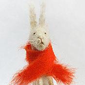 Куклы и игрушки ручной работы. Ярмарка Мастеров - ручная работа заяц валяный. Handmade.
