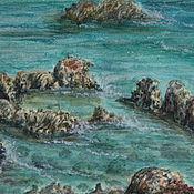 """Картины и панно handmade. Livemaster - original item Пейзаж акварель,  """"Кипр. Капарис"""", пейзаж, Греция, картина акварелью. Handmade."""