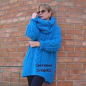 """Одежда ручной работы. Ярмарка Мастеров - ручная работа """" Бирюза"""" авторский вязаный свитер. Handmade."""