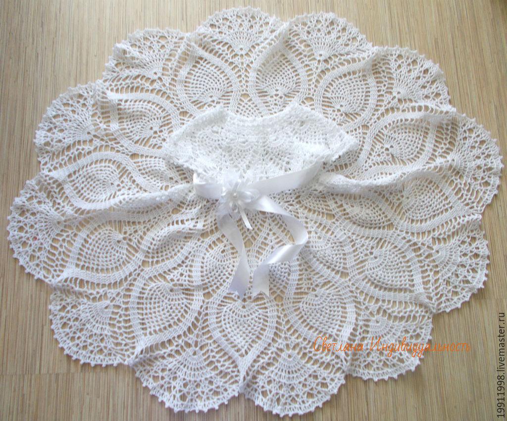 схема вязаного платья на крещение для девочки 4 лет