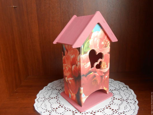 """Кухня ручной работы. Ярмарка Мастеров - ручная работа. Купить Чайный домик """"Цветущий персик"""". Handmade. Чайный домик, цветы"""