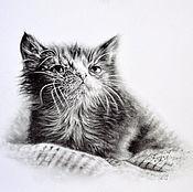 Картины и панно handmade. Livemaster - original item Kitten. Handmade.