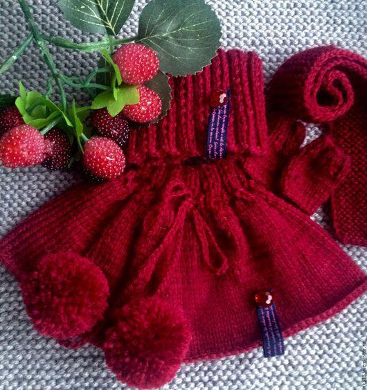 """Одежда для кукол ручной работы. Ярмарка Мастеров - ручная работа. Купить Комплект """"Вишневая осень"""". Одежда для кукол.. Handmade. Бордовый"""