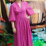 Одежда handmade. Livemaster - original item Dress crinkled cotton dress southern rose. Handmade.