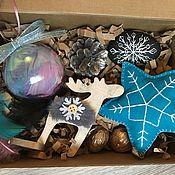 Елочные игрушки ручной работы. Ярмарка Мастеров - ручная работа «Новогодний» набор подарочный. Handmade.