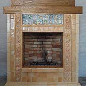 Для дома и интерьера ручной работы. Ярмарка Мастеров - ручная работа Карамельный камин. Handmade.