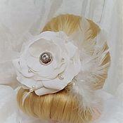 Свадебный салон handmade. Livemaster - original item Hair ornament in the shape of a flower. Handmade.