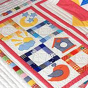 Для дома и интерьера ручной работы. Ярмарка Мастеров - ручная работа Лоскутное детское одеяло Цветные сны. Handmade.
