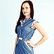 Платья ручной работы. Платье Adele. Florinio - авторская одежда. Интернет-магазин Ярмарка Мастеров. Цветочный, хлопок с эластаном