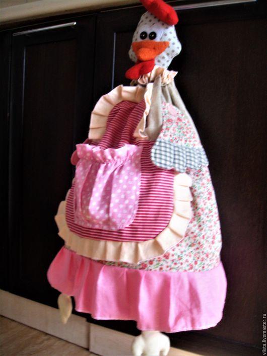 """Кухня ручной работы. Ярмарка Мастеров - ручная работа. Купить Пакетница - пижамница """"Наседка"""". Handmade. Розовый, кармашки в детскую"""