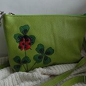 Сумки и аксессуары handmade. Livemaster - original item Leather bag. Crossbody bag.Clutch. Ladybug. Handmade.