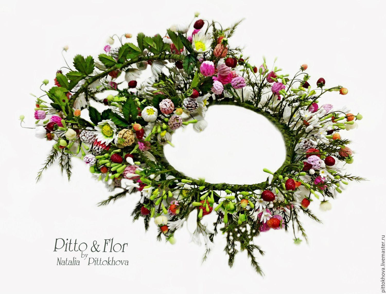 Венки из полевых цветов фото красивые
