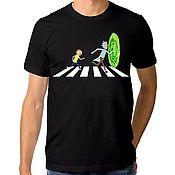 "Одежда handmade. Livemaster - original item Футболка хлопковая ""Рик и Морти - Abbey Road"". Handmade."