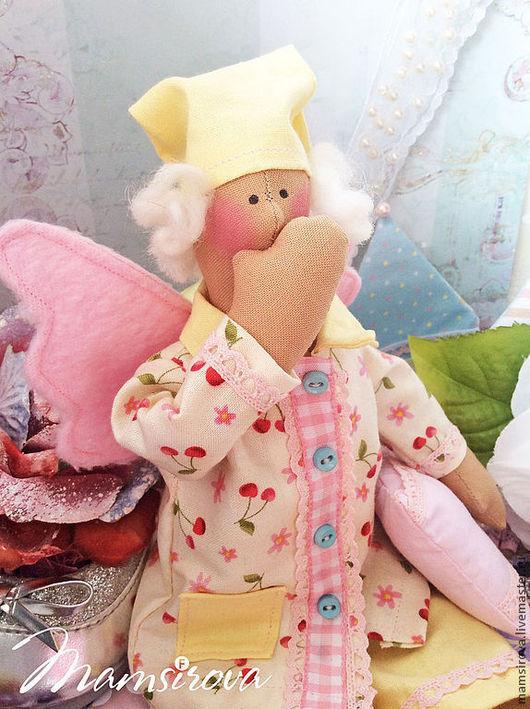 Куклы Тильды ручной работы. Ярмарка Мастеров - ручная работа. Купить Тильда-Ангел сна-Сплюшка.В резерве. Handmade.