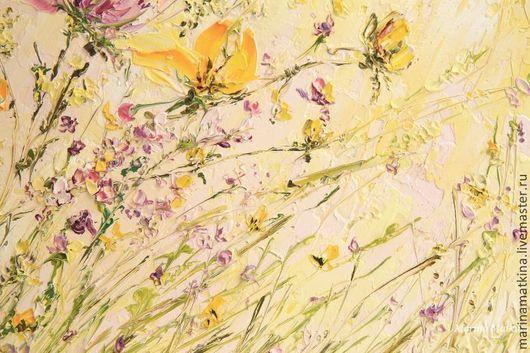 тюльпаны, объемная живопись, цветы желтые для интерьера купить, рельефный рисунок на стене\r\nhttp://www.livemaster.ru/marinamatkina