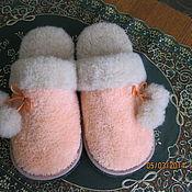 """Обувь ручной работы. Ярмарка Мастеров - ручная работа Тапочки """" Персик"""". Handmade."""