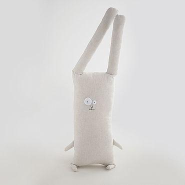 Dolls & toys handmade. Livemaster - original item Copy of Velor pillow toy Bunny. Handmade.