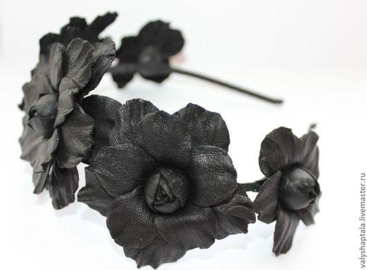 """Диадемы, обручи ручной работы. Ярмарка Мастеров - ручная работа. Купить венок  """"темная ночь"""". Handmade. Черный, ободок с цветами"""