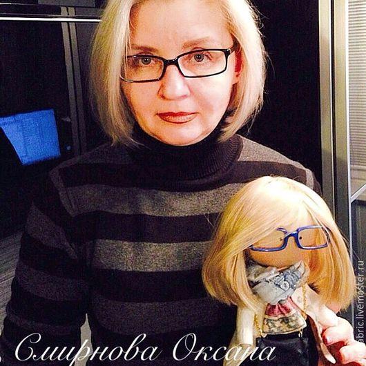 Коллекционные куклы ручной работы. Ярмарка Мастеров - ручная работа. Купить Текстильная кукла. Handmade. Подарок на любой случай, очки