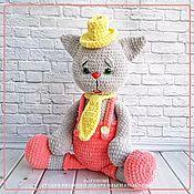 handmade. Livemaster - original item Knitted toy - plush cat Stepan. Handmade.