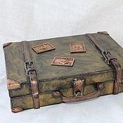 """Для дома и интерьера ручной работы. Ярмарка Мастеров - ручная работа шкатулка """"Мой старый чемоданчик"""". Handmade."""