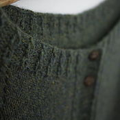 Одежда handmade. Livemaster - original item Knitted wool jacket with cashmere