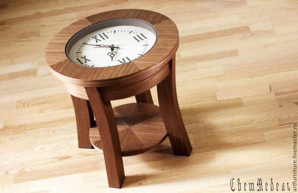 Журнальные столики часы