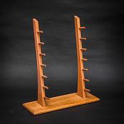 Сувениры и подарки handmade. Livemaster - original item Stand for 7 knives with beech wood. Handmade.