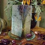 """Сувениры и подарки ручной работы. Ярмарка Мастеров - ручная работа Свеча ручной работы """"Лаванда"""" в стиле Прованс. Handmade."""