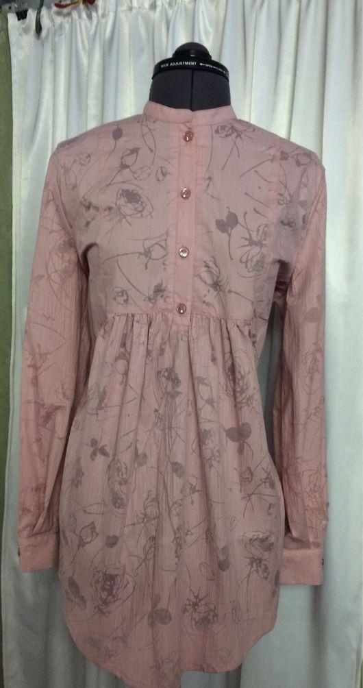 Блузки ручной работы. Ярмарка Мастеров - ручная работа. Купить Блузка из жатого хлопка розовая. Handmade. Блузка, блузка-туника