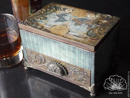 Подарки для мужчин, ручной работы. Ярмарка Мастеров - ручная работа. Купить Коробка для сигар At a Skyfall. Handmade. Хьюмидор