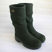 Обувь ручной работы handmade. Livemaster - original item Boots boots with compressed shaft. Handmade.