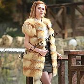Одежда handmade. Livemaster - original item The Fox fur vest. Handmade.