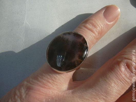 Кольца ручной работы. Ярмарка Мастеров - ручная работа. Купить Элегантное кольцо МОХОВОЙ АГАТ,серебро 925.. Handmade.