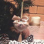 Подарки к праздникам ручной работы. Ярмарка Мастеров - ручная работа Елочные  игрушки ( Нежность ). Handmade.