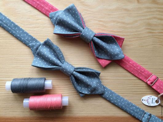 Галстуки, бабочки ручной работы. Ярмарка Мастеров - ручная работа. Купить Галстук-бабочка. Handmade. Серый, галстук-бабочка, хлопок