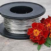 Материалы для творчества handmade. Livemaster - original item 1,2 mm copper Wire, silver. Handmade.