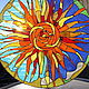 Элементы интерьера ручной работы. Витраж. Солнце. Окно.. Кир (Kir-Kir). Интернет-магазин Ярмарка Мастеров. Окно, Витраж
