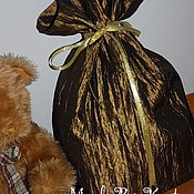 Сувениры и подарки ручной работы. Ярмарка Мастеров - ручная работа Большой мешок Деда Мороза золотистый. Handmade.