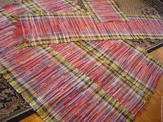 Текстиль, ковры ручной работы. Ярмарка Мастеров - ручная работа. Купить Домотканные половики, самотканые дорожки. Handmade. Комбинированный, домотканый