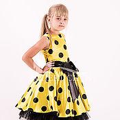 Платья ручной работы. Ярмарка Мастеров - ручная работа Платье Стиляги №9, цвет желтый-черный, нарядное, праздничное. Handmade.