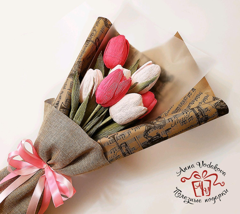 """Букет """"Фокстрот"""" с тюльпанами и с конфетами Марсианка, Букеты, Санкт-Петербург,  Фото №1"""